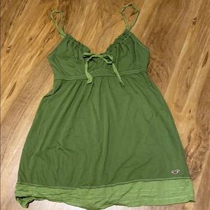 Hollister Tank Top- Green